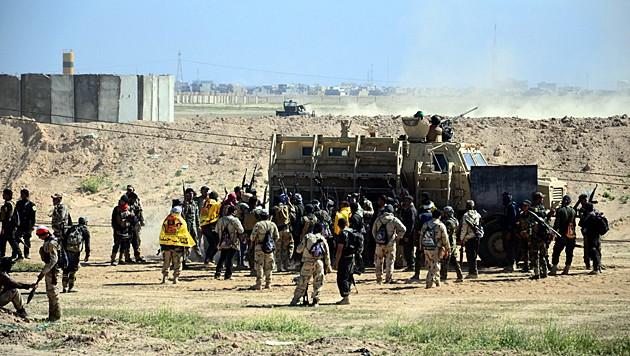 Anti-IS-Truppen vor Tikrit
