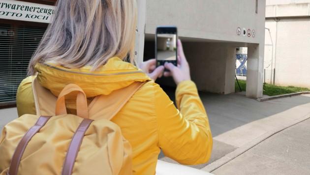 Eine Zeugin machte Bilder während des Kidnappingversuchs in der Ernest-Thun-Straße in Salzburg. (Bild: Markus Tschepp, thinkstockphotos.de)