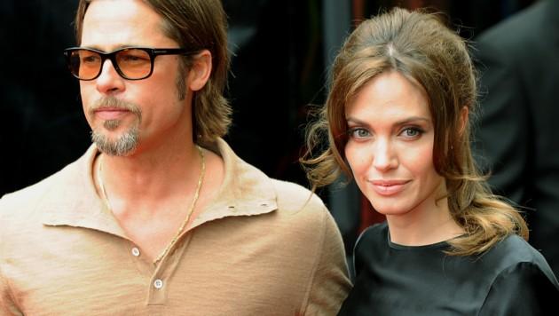 Brad Pitt und Angelina Jolie (Bild: MARK RALSTON/AFP/picturedesk.com)