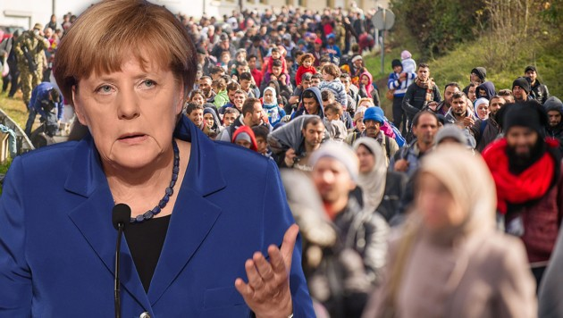 Angela Merkel (Bild: APA/AFP/STEPHANE DE SAKUTIN, APA/AFP/Rene Gomolj)