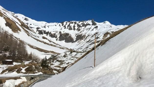 Blick zurück ins Guttal Richtung Brennkogel (weißer Gipfel rechts) (Bild: Hannes Wallner)