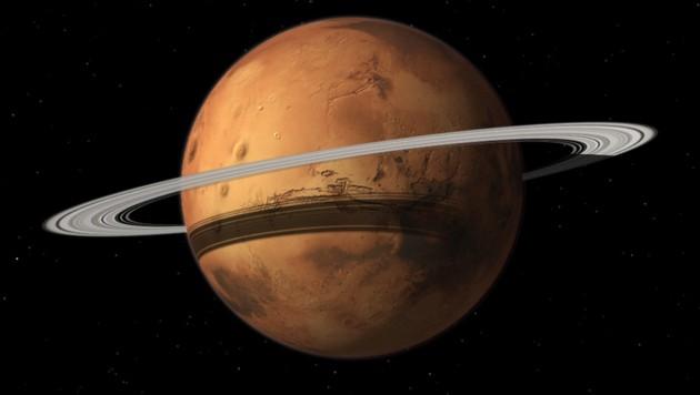 Künstlerische Illustration: So könnte der Mars in zig Millionen Jahren aussehen. (Bild: NASA/Celestia Development Team)