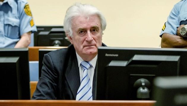 Karadzic bei der Urteilsverkündung (Bild: APA/AFP/POOL/ROBIN VAN LONKHUIJSEN)
