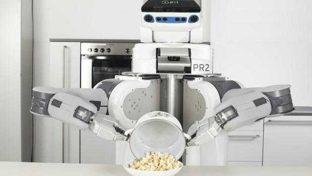 Pizza backen, Popcorn poppen: Für Roboter ist Kochen eine höchst komplexe Angelegenheit. (Bild: Michael Memminger)