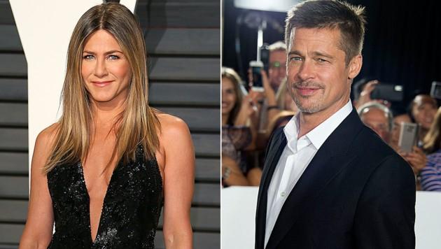 Jennifer Aniston und Brad Pitt stehen wieder in Kontakt. (Bild: AFP)