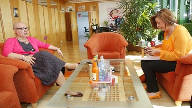Sabine Oberhauser im Gespräch mit Conny Bischofberger (Bild: Martin A. Jöchl)
