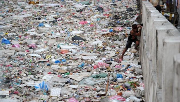 Plastikmüll im Meer (Bild: AFP)