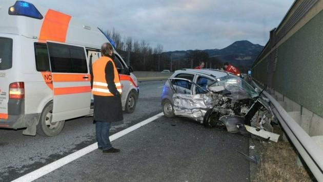 Auf der Brucker Schnellstraße (S35) kam es zur Kollision. (Bild: APA/S. ULLRICH - FROHNLEITEN)