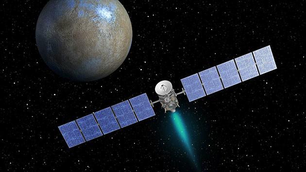 """""""Dawn"""" im Anflug auf den Zwergplaneten Ceres (Bild: NASA/JPL-Caltech)"""