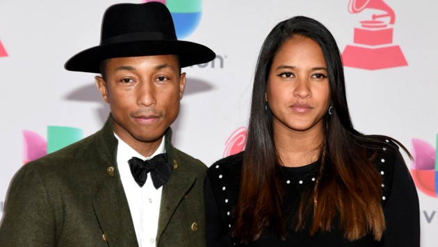 Pharrell Williams mit seiner Frau Helen Lasichanh (Bild: Ethan Miller/Getty Images /AFP)