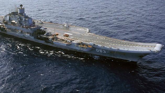 "Der russische Flugzeugträger ""Admiral Kusnezow"""
