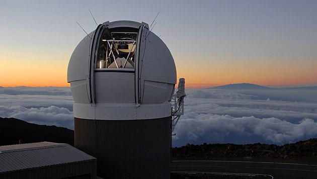 Das Pan-STARRS-Teleskop PS1 auf dem Haleakala auf Hawaii (Bild: PS1SC/Rob Ratkowski)