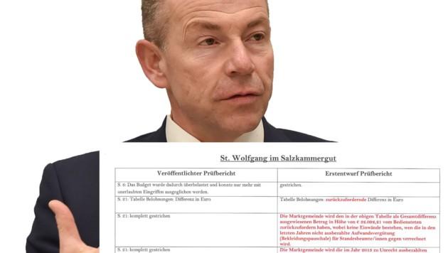 ÖVP-Politiker Max Hiegelsberger ignoriert nachweisbare Eingriffe (siehe Ausriss)