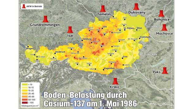 Tschernobyl Karte Belastung Deutschland.Tschernobyl 1000 Strahlentote Auch In Osterreich Krone At