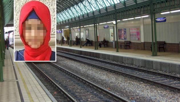 Das junge Mädchen behauptete, in dieser S-Bahn-Station auf die Gleise gestoßen worden zu sein. (Bild: Facebook.com/Rassistische Übergriffe, Wikipedia.com/My Friend)