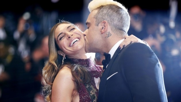Robbie Williams und Ayda Field (Bild: VALERY HACHE/AFP/picturedesk.com)