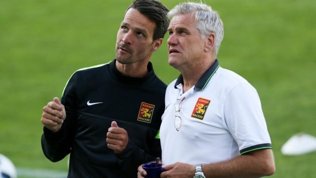 Coach Oliver Lederer (li.) und Sportdirektor Ernst Baumeister