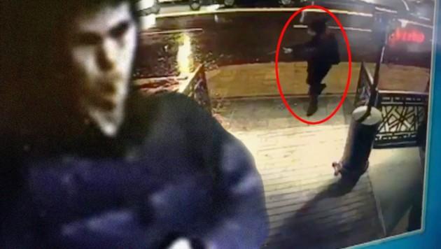 Bilder sollen den Terroristen zeigen, der in einem Istanbuler Nachtclub 39 Menschen getötet hat. (Bild: AP/CCTV/Haberturk Newspaper, Cumhuriyet)
