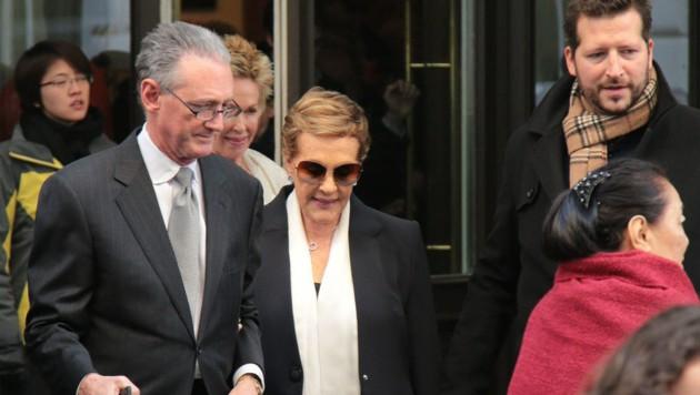Julie Andrews auf dem Weg zum Neujahrskonzert 2017