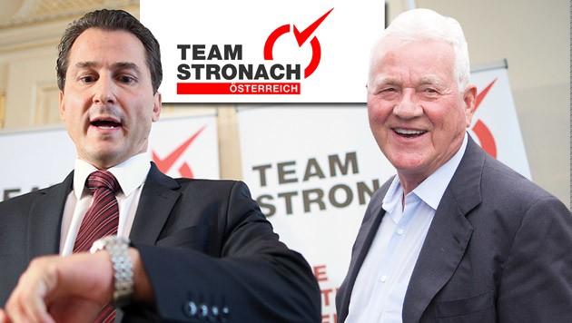 Robert Lugar mit Parteigründer Frank Stronach (Bild: APA/Georg Hochmuth)
