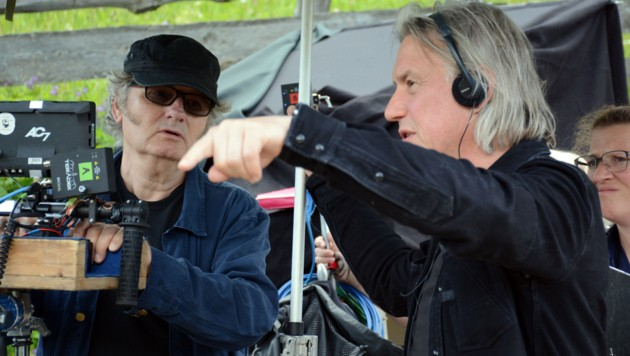 Kameramann Helmut Pirnat (links) und Regisseur Harald Sicheritz arbeiteten intensiv zusammen. (Bild: Andreas Fischer)