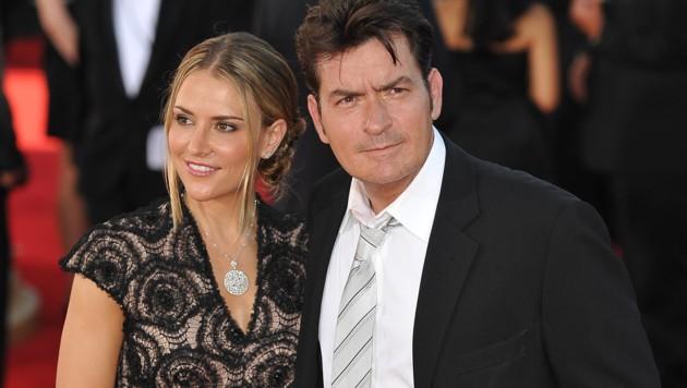 Charlie Sheen und seine Ex-Ehefrau Brooke Mueller (Bild: ROBYN BECK/AFP/picturedesk.com)