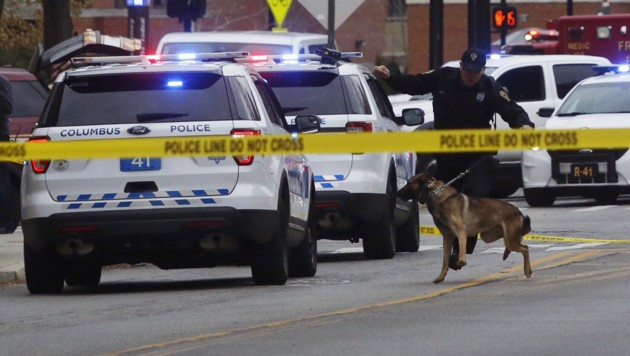 Polizeieinsatz an der Ohio State University (Bild: AP)