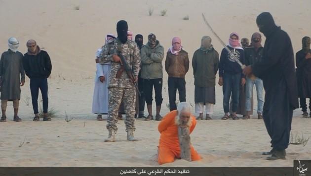 Immer wieder im Web zu finden: Bilder und Videos grausamer IS-Hinrichtungen (Bild: Twitter.com (Archivbild))
