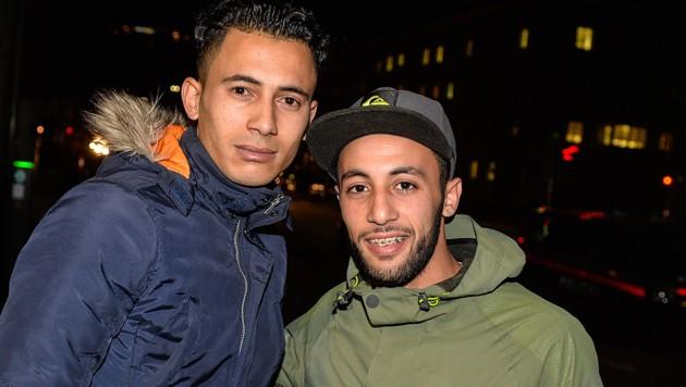 Sie wurden zu Helden in Innsbruck: Mohamed El Khanoussi (links) und Mohamed El Khalif (Bild: zeitungsfoto.at/Daniel Liebl)