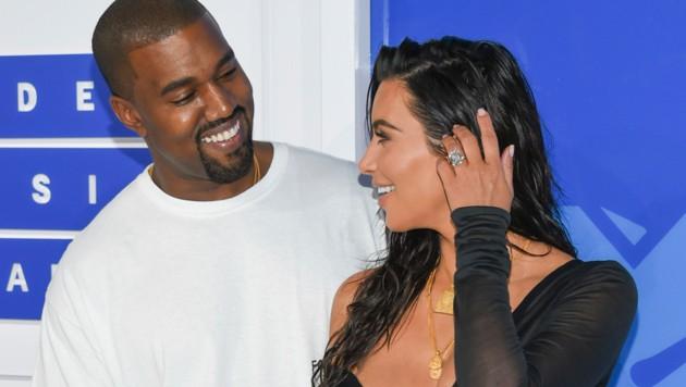 Kim Kardashian und Kanye West (Bild: AP)
