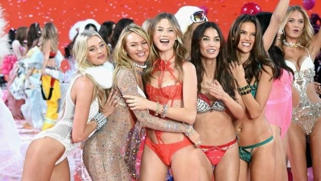 Die Model-Engel machen die Victoria's-Secret-Fashion-Show zum Highlight. (Bild: APA/AFP/Jamie McCarthy)