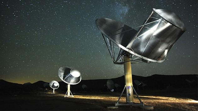 Der Allen Telescope Array von SETI im Norden Kaliforniens