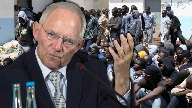 CDU-Finanzminister Schäuble (Bild: AFP/AHMUD TURKIA, AFP/John MACDOUGALL)