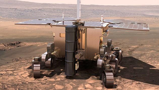 """Illustration: So soll der Rover der Mission """"ExoMars"""" aussehen."""