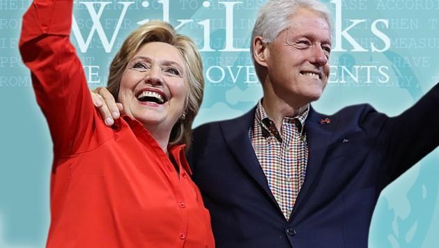 Brisante E-Mails warfen ein gänzlich anderes Licht auf Bill Clintons Stiftung. (Bild: APA/AFP/GETTY IMAGES/JUSTIN SULLIVAN, twitter.com)