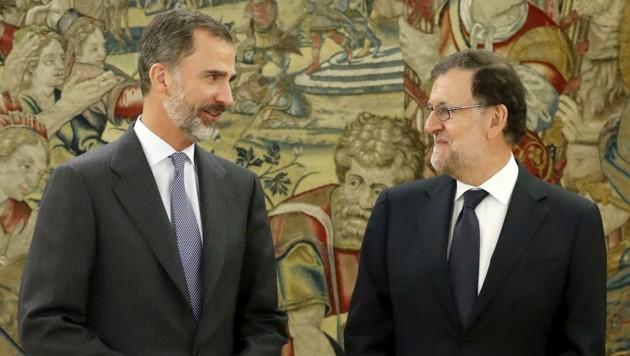 König Felipe VI. mit Ministerpräsident Mariano Rajoy