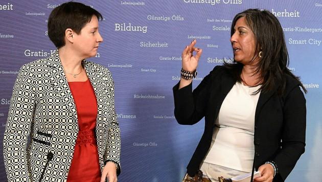 """Vizebürgermeisterin Vassilakou gefällt der """"Alleingang"""" von Sozialstadträtin Wehsely gar nicht. (Bild: APA/HELMUT FOHRINGER)"""