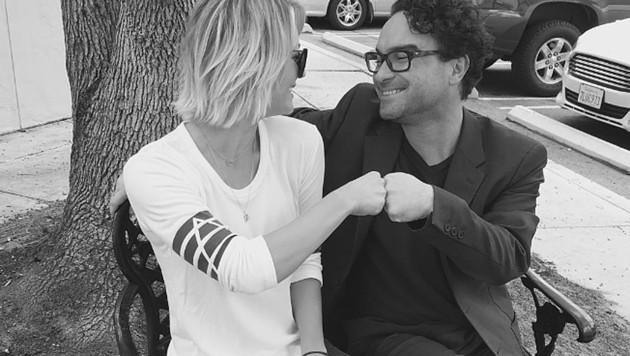 Kaley Cuoco und Johnny Galecki sind nur gute Freunde. (Bild: instagram.com/normancook)