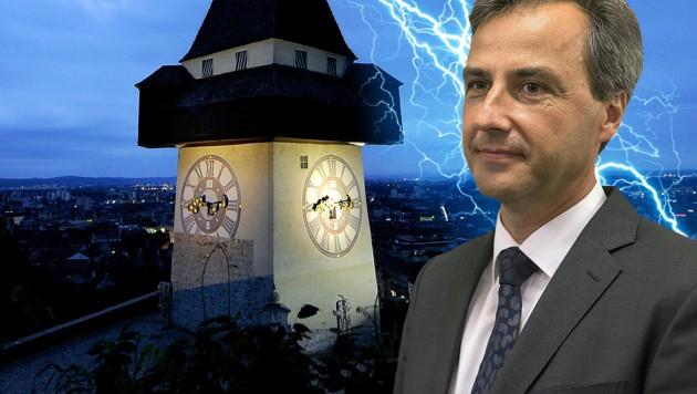 Gewitterwolken über Graz: Stadtchef Nagl kann kein Budget beschließen und muss Neuwahlen ausrufen.