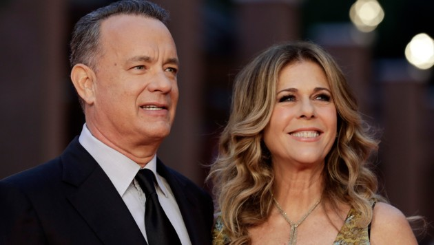 Tom Hanks mit seiner Ehefrau Rita (Bild: AP)