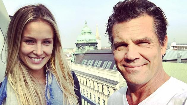Josh Brolin und Kathryn Boyd flitterten in Österreich.