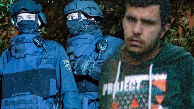 (Bild: APA/AFP/JENS-ULRICH KOCH, APA/Polizei Sachsen/Christian Zander)