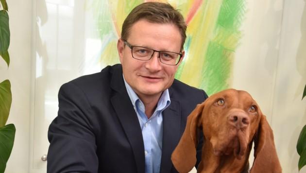 Fressnapf Österreich-Chef Hermann Karl Aigner. (Bild: Wolfgang Weber)