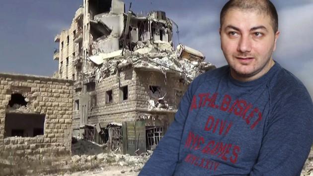 """Elia Gerges ist aus Aleppo geflohen: """"Ich habe meine Heimat verloren."""" (Bild: ASSOCIATED PRESS, Gerhard Bartel)"""