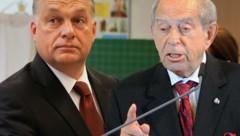 Ungarn-Experte Lendvai (rechts) übt Kritik am politischen System des ungarischen Regierungschefs Viktor Orban. (Bild: AP/Vadim Ghirda, ROBERT JAEGER)