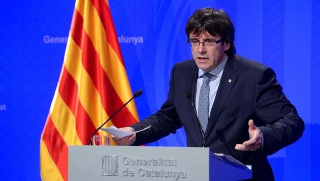 Kataloniens abgesetzter Regierungschef Carles Puigdemont (Bild: APA/AFP/Josep Lago)