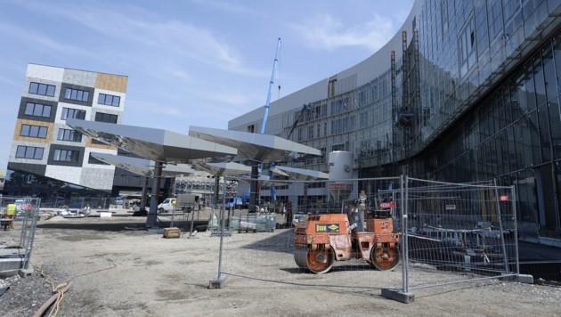 Die Baustelle beim Krankenhaus Nord
