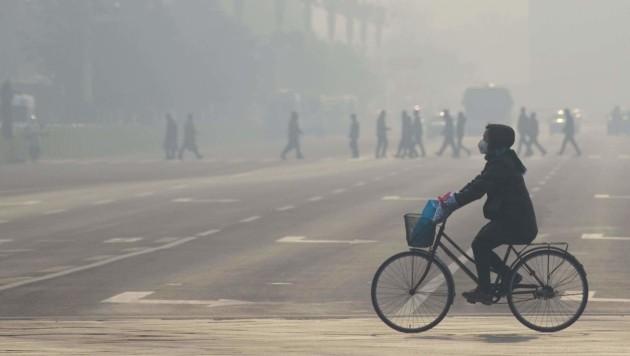 Smog ist in China ein großes Problem. (Bild: APA/AFP/WANG ZHAO)