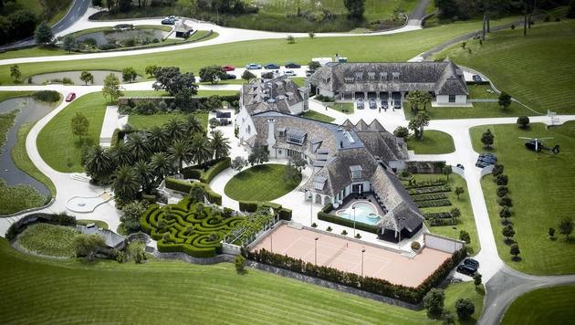 Kim Dotcoms Anwesen im neuseeländischen Coatesville