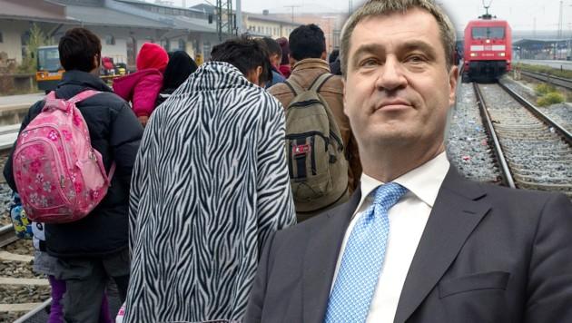 Der bayrische Ministerpräsident Markus Söder (Bild: APA/AFP/ANGELIKA WARMUTH, APA/HANS KLAUS TECHT)